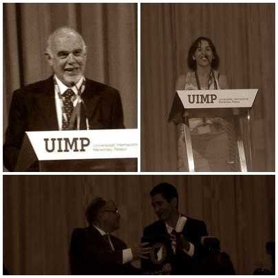 Tres momentos de la entrega del Premio La Barraca.