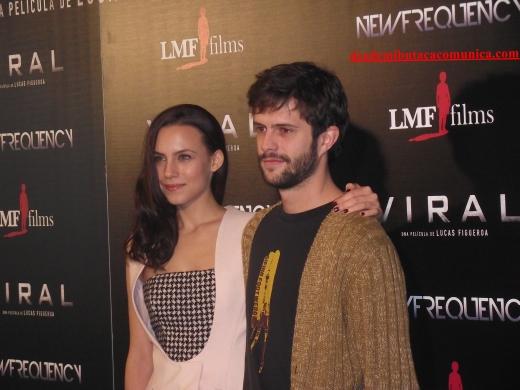 Aura Garrido y Juan Blanco.