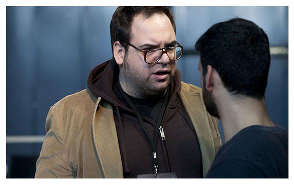 Jorge Usón junto a Perea en uno de los ensayos en otra imagen de Charo Guerrero.