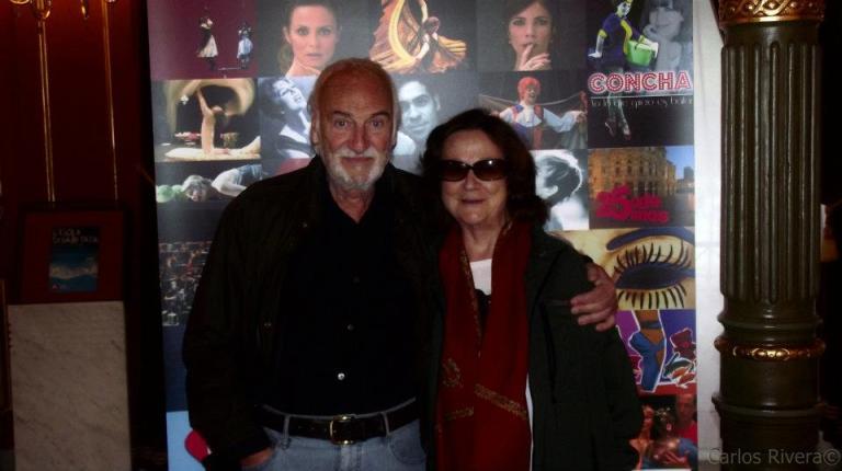Junto a Julieta Serrano en una foto de archivo de DESDE MI BUTACA.