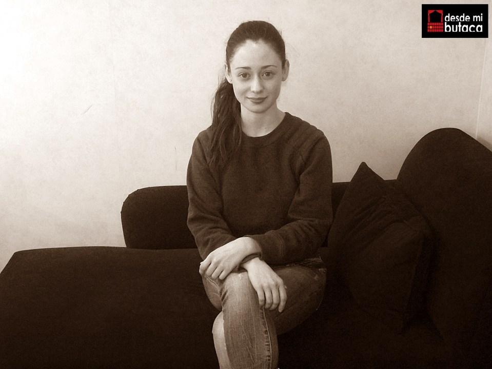 La actriz en su camerino del Teatro María Guerrero