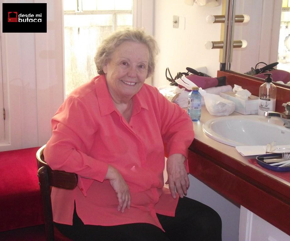 María Galiana en su camerino del Teatro Arriaga.