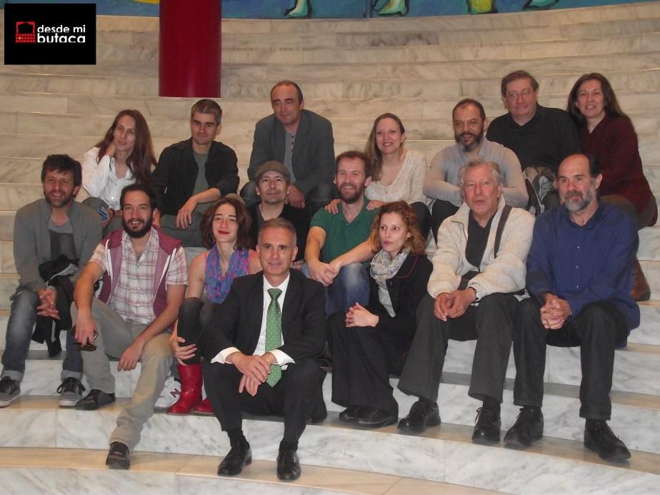 """El elenco de """"La verdad sospechoso"""" en Santander, la última plaza de la gira española."""