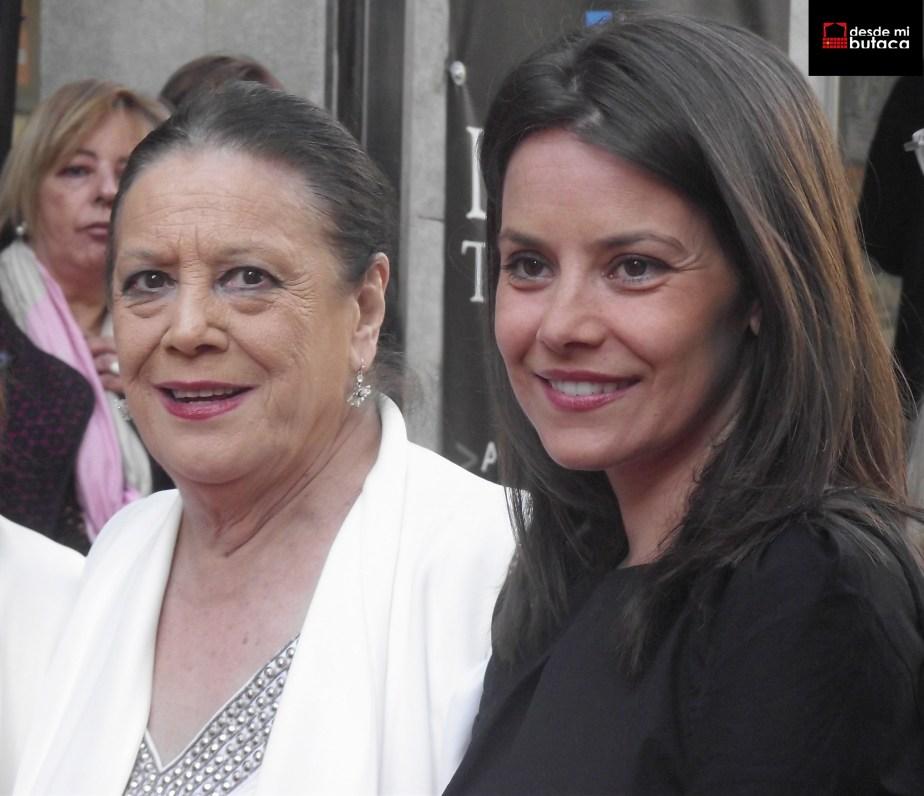 Junto a Terele Pávez en el Festival de Cortometrajes de Torrelavega.