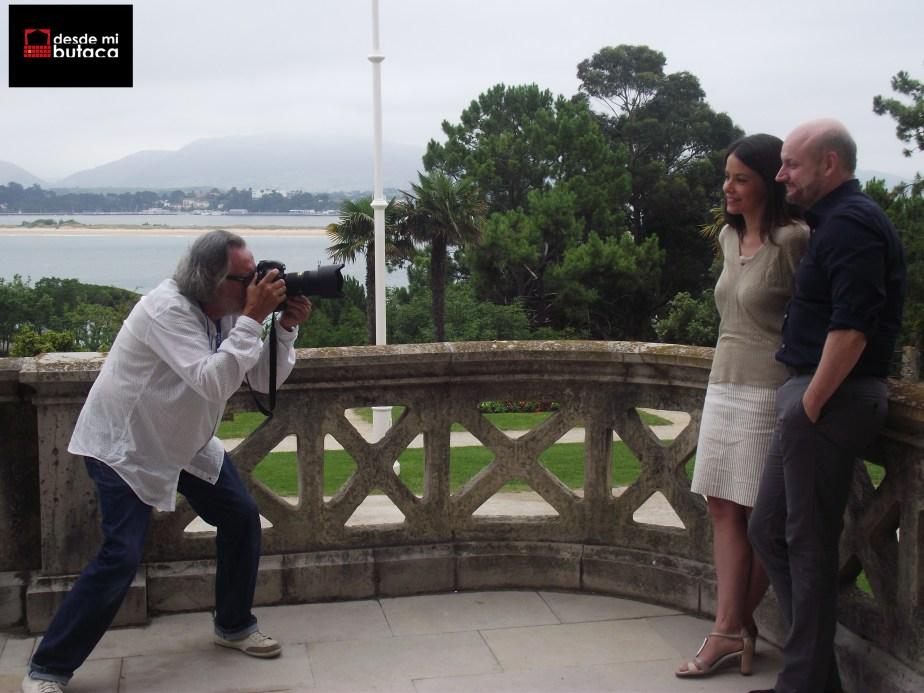 Junto a Campanella ante  el objetivo del fotógrafo Pablo Hojas.