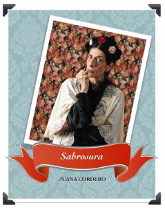 """Juana Cordero interpreta a Sabrosura en la obra """"Delicia"""" en La Casa de la Portera."""