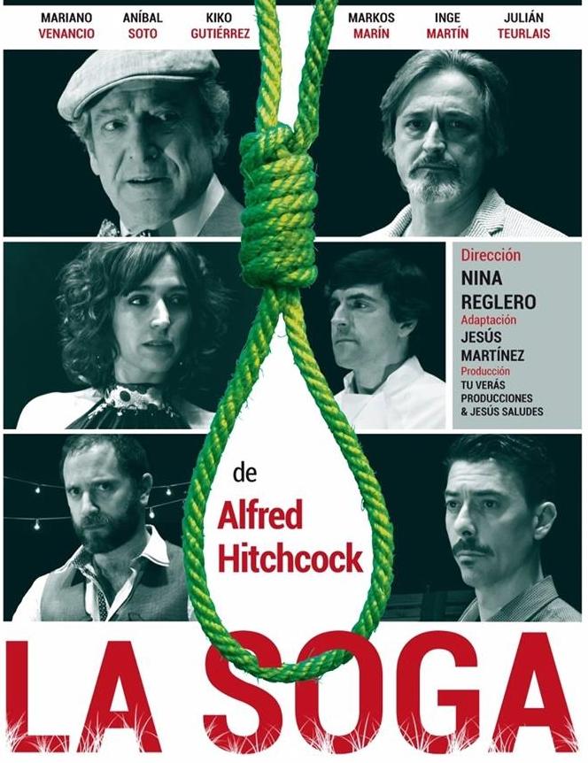 """""""La Soga"""" de Alfred Hitchcock salta al Teatro Fígaro el 15 dejulio"""