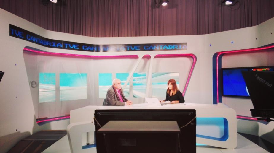 Juanjo Seoane estuvo en el Informativo de TVE hablando de LOS CACIQUES.